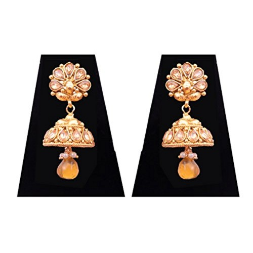 3cf92cd4710 ... Sitashi 18 K Gold Plated Antique Rajwadi Fashion Imitation Jewellery  Stone Choker Necklace Set for ...