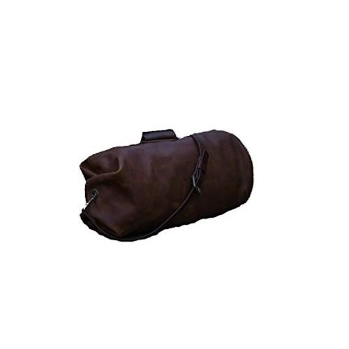 Millitary Duffle Bag Smoke Leather Travel Luggage