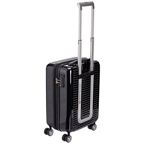 Swiss Military 20 Inch Black Hard Shell Trolley Suitcase (HTL-18)