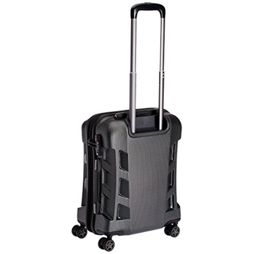 Swiss Military Polycarbonate 42 liters Black Hard Shell Trolley Suitcase (HTL-3)
