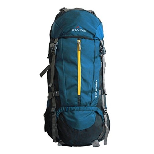 ... INLANDER 70L Teal Blue Travel Bag Backpacking Backpack for Outdoor  Hiking Trekking Camping Rucksack ... 932346a1bc