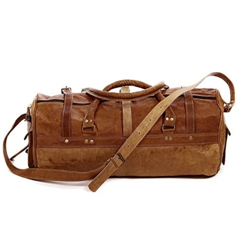 7872d4ffa5 ... Pranjals house Vintage Handcrafted Leather Duffle Bag Overnight Bag  Weekend Bag Leather Gym Sports Cabin Bag ...