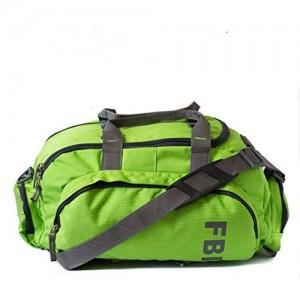 Fbi Polyester Green Softsided Travel Duffle Bag