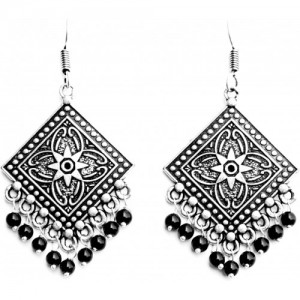 Sansar India Square Gypsy Alloy Dangle Earring