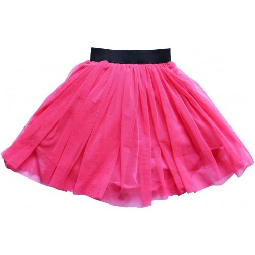 MVD Fashion Self Design Girls Gathered Pink Skirt