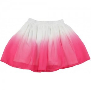 The Children's Place Solid Girls Gathered White, Pink Skirt