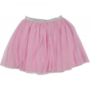 612 League Solid Girls Gathered Pink Skirt