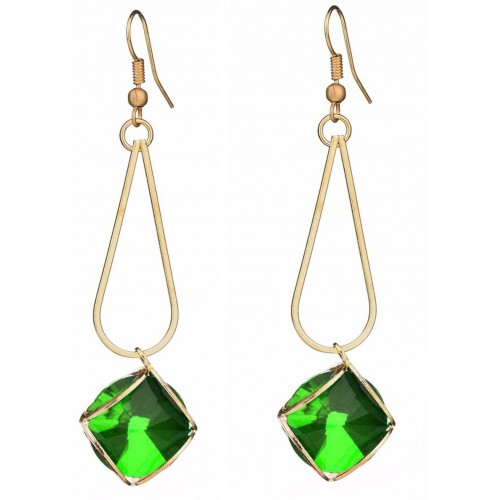 Sansar India Geometric Minimalistic Alloy Dangle Earring