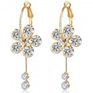 Jewels Galaxy Luxuria Crystal Alloy Drop Earring