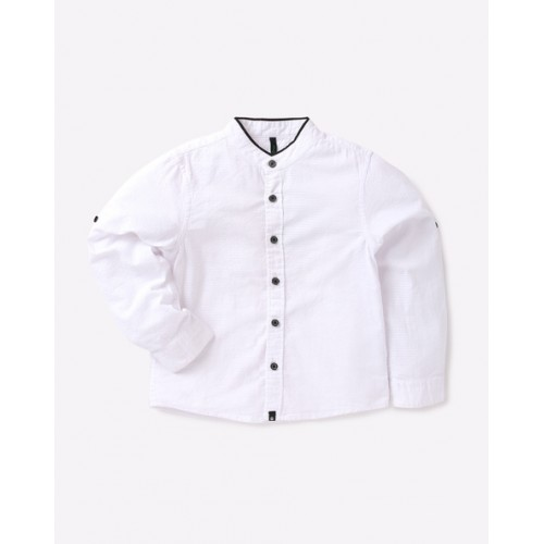 c9c9dd4f8f4f Buy United Colors of Benetton. Boys Self Design Casual White Shirt ...
