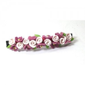 458dfa76a Buy Purple Flower Hair Band Headband Hair Clip online | Looksgud.in