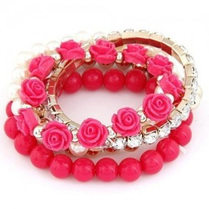 Cinderella Collection By Shining Diva Trendy Stylish Charm Bangle Bracelet For Girls and Women