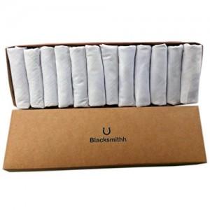 Blacksmithh 100% Gentle Cotton Handkerchief - Pack of 12