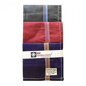 just handkerchiefs for men dark color 46x46 cm pack of 6