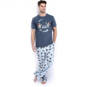 Nuteez Sweeper man Printed Pyjama Set