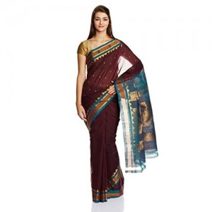 IndusDiva Gadwal Silk Cotton Handloom Saree