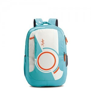 Skybags Sky Blue Pogo Extra 35 Ltrs Teal School Backpack