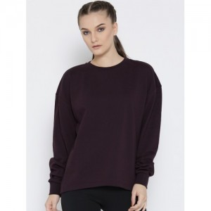 Adidas NEO Women Purple Printed CE CONT Sweatshirt