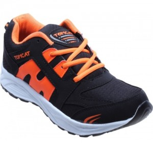 Tomcat Men's Orange & Black Sports Shoes