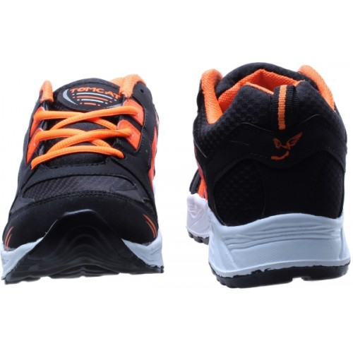 Tomcat Men's Orange & Black Sports Shoes