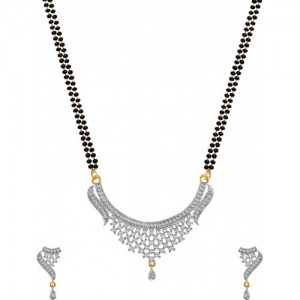 American Diamond Copper, Brass Jewel Set