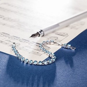 Yutii Ballad for Adeline Blue Tennis Bracelet For Girls