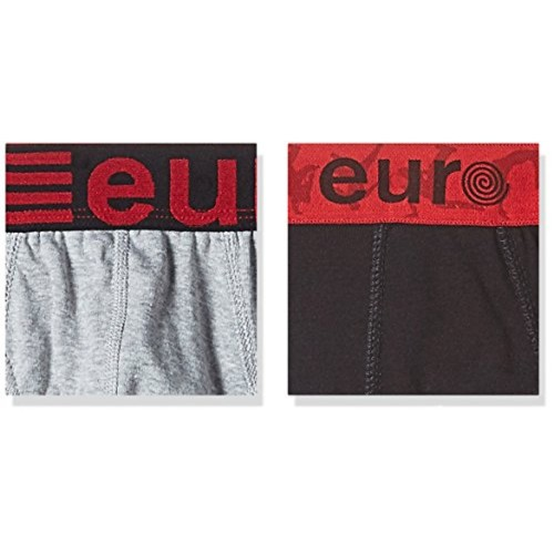 Euro Men's Cotton Brief (Pack of 2) (Colors May Vary)