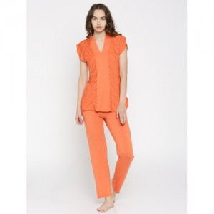Enamor Orange Printed Nightsuit TP40-TIGER LILY