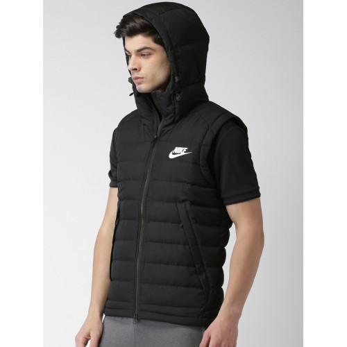 1fc233149 Buy Nike Men Black Solid AS M NSW DOWN FILL Puffer Jacket online ...