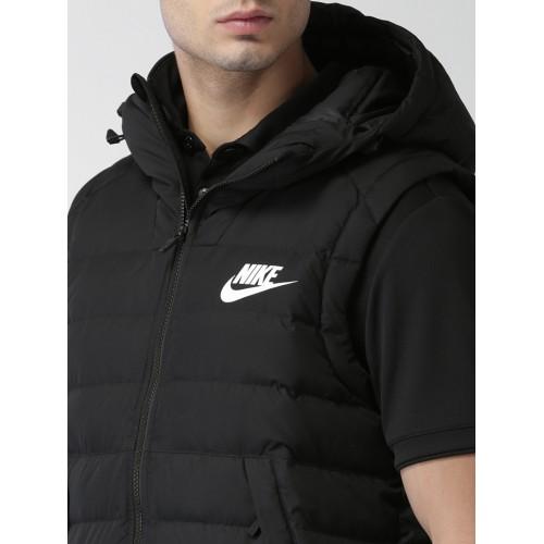 06ee7357e7ef Buy Nike Men Black Solid AS M NSW DOWN FILL Puffer Jacket online ...