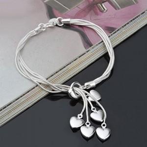 Womage Little Hearts Bracelet For Women/Girls - Jewl-38
