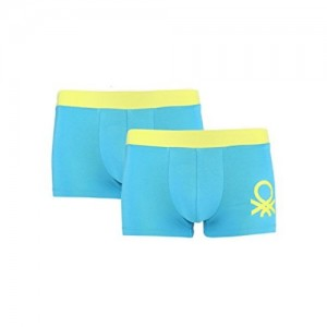 United Colors of Benetton Men's Cotton Trunk - ASSORTED*- (Pack Of 2) P02DI Color Dispatch Random*