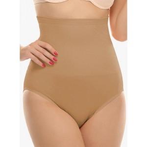Clovia Beige Solid Tummy Tucker Shapwear