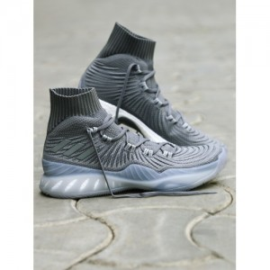 Adidas Men Grey Synthetic Lace Up Basketball Shoes