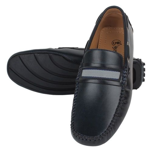 Guava Men Navy Blue Loafers