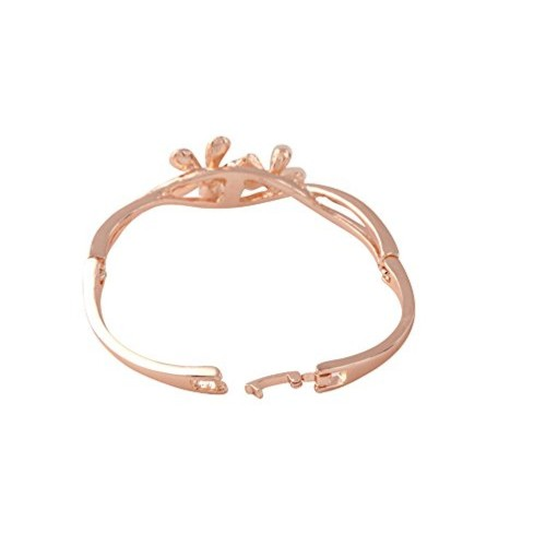 Buy Valentine Gift Sitashi Rose Gold Plated Ad Floral Design