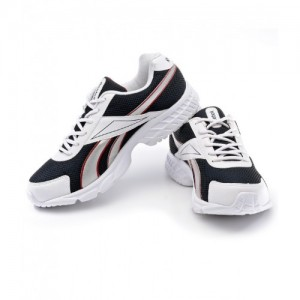 Reebok White Synthetic Lace Up Sports Shoes