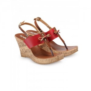 Nell NELL LADIES Red Wedges FOOTWEAR