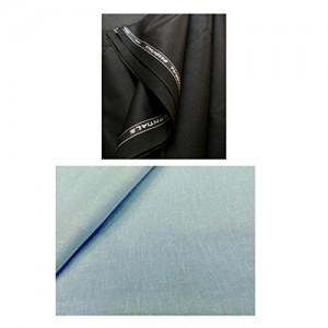 Vimal Men's Unstiched Pant Shirt Combo Pack (1.2m /2.25m )