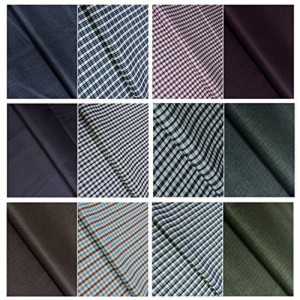 Kundan Sulz Gwalior Men's Executive Shirts and Fancy Trouser Fabric Combo Set - ( Set of 6 Pant and Shirt Piece )