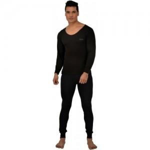 Lux Inferno Plus Black Full Sleeves Round Neck Men's Top - Pyjama Set