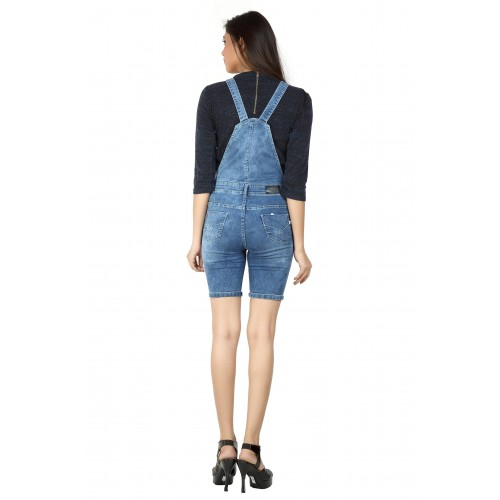 b2776d3df77f Buy FCK-3 FCK-3 s Women s Pedal Length Stretchable Denim Dungaree ...