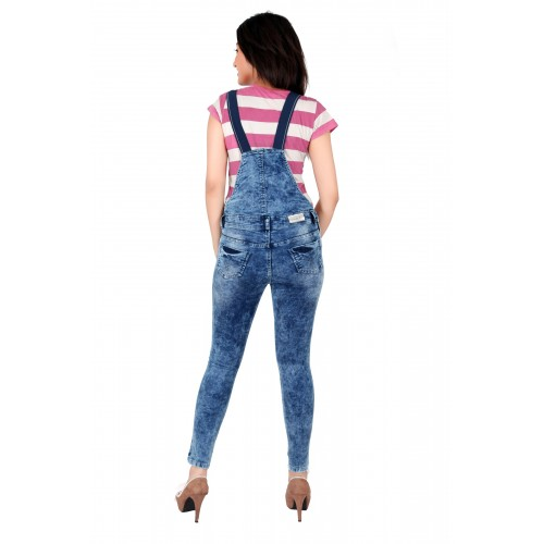 fd7165ba3ec3 Buy FCK-3 FCK-3 s Women s Ankle Length Stretchable Denim Dungaree ...