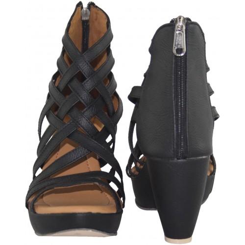 Cute Fashion Women Black, Beige Heels