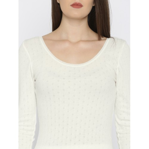 Kanvin Off-White Thermal Top