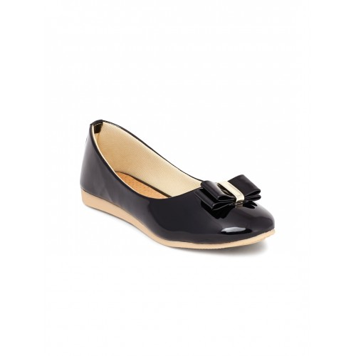 Shoetopia Women Black Ballerinas