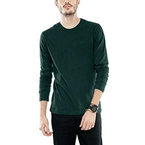 f184dca0def8 ... Bewakoof Pine Green Men's Cotton Plain Full Sleeve T-Shirts ...