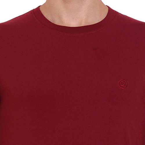 019fd6358 CHKOKKO Round Neck Half sleeves and full sleeves Solid Plain Collar Cotton T  shirt Regular Fit ...