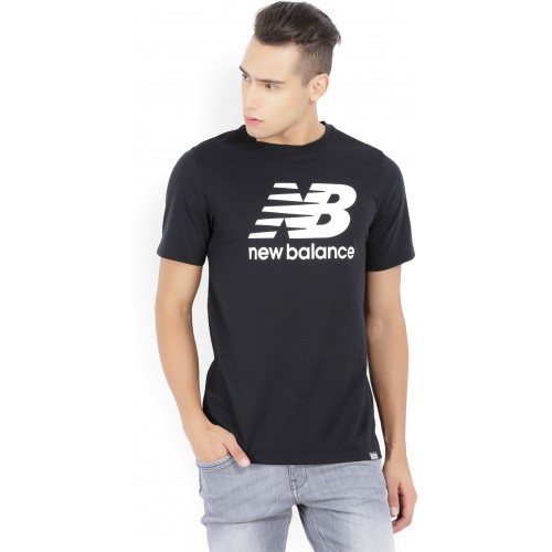 1610129dee291 Buy New Balance Printed Men's Round Neck Black T-Shirt online ...