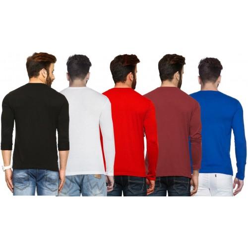 8241e51f0 Buy Tripr Solid Men s V-neck Multicolor